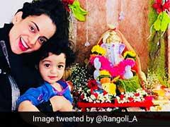 Ganesh Chaturthi 2018: Kangana Ranaut And Nephew Prithvi Raj Set Off The Cuteness Alarm