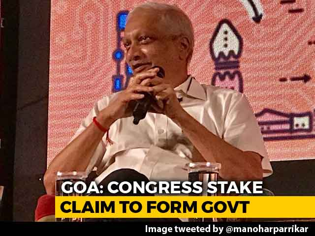 Video : With Manohar Parrikar On Health Leave, Congress Stakes Claim In Goa