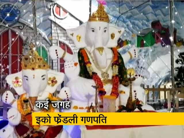 Videos : मुंबई के कुर्ला में बर्फ के गणपति