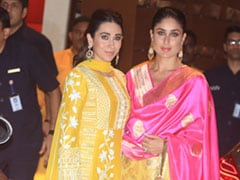 Ganesh Chaturthi 2018: Karisma And Kareena Kapoor Ended Up Wearing The Exact Same Shade Of Yellow
