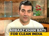 Video : Arbaaz Khan Bats For Clean India
