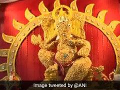 Ganpati Idol Made Of 10,000 Paani Puris For Ganesh Chaturthi At Pune Shop