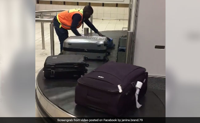 Video Of Airport Worker Handling Luggage Goes Viral For The Best Reason