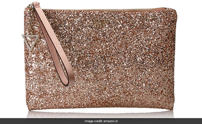 c93516a7c9c3 Rose gold clutch from Guess