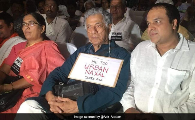 Police Case Against Writer Girish Karnad For 'Urban Naxal' Sign At Event