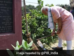 Swachhata Hi Seva: PM Modi Cleans School Premises In Delhi's Paharganj