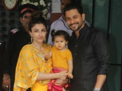 Baby Inaaya Attends Ganesh Chaturthi <i>Puja</i> With Parents Soha Ali Khan And Kunal Kemmu