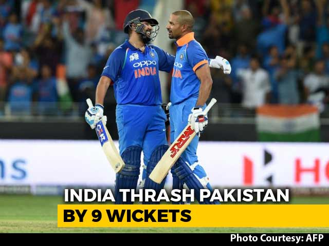 Video : Asia Cup: Rohit, Dhawan Score Tons As India Crush Pakistan By 9 Wickets