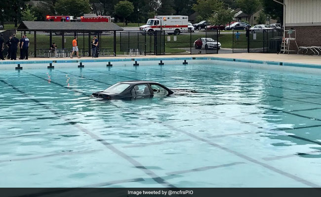 Driving Lesson In Maryland Ends With Car In Swimming Pool
