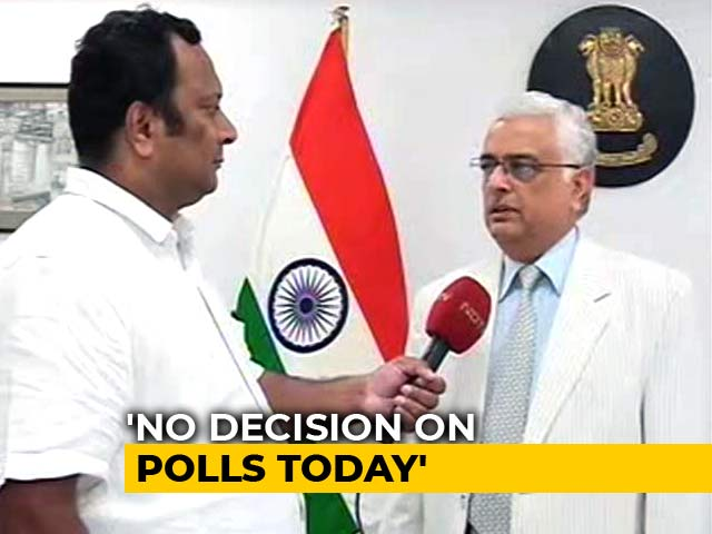 "Video : ""Preposterous,"" Says Election Chief On KCR Plans Of Early Telangana Polls"