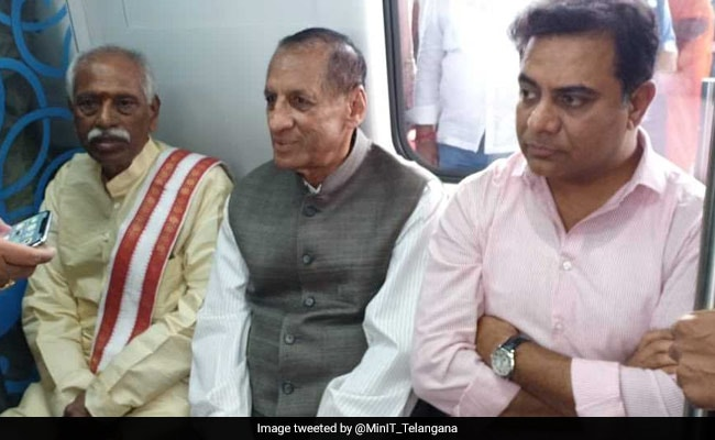 After Inaugurating Metro, Telangana Governor Rides Bicycle To Raj Bhavan