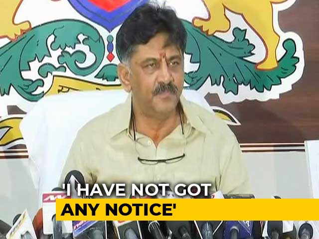 "Video : ""Ready For Any Torture,"" DK Shivakumar On BJP's <i>Hawala</i> Allegations"