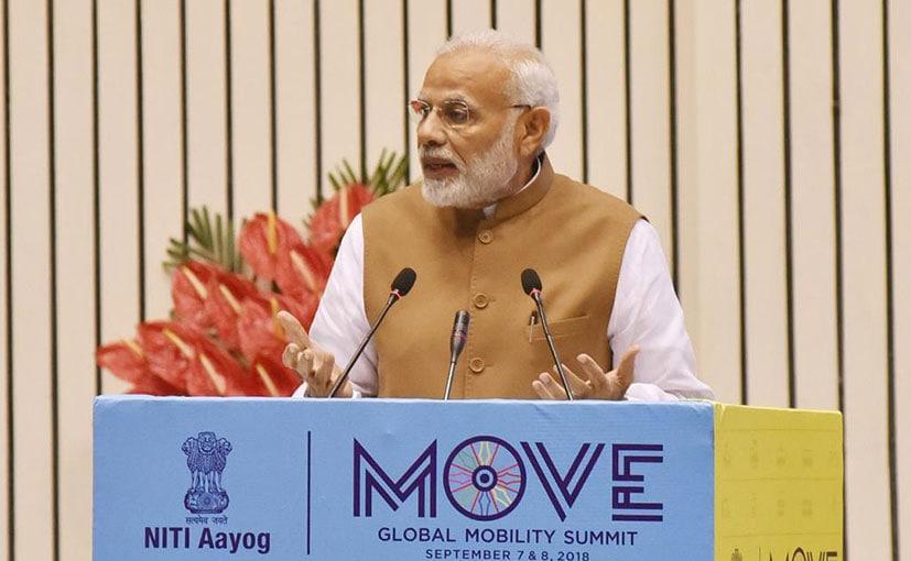 Prime Minister Narendra Modi at the MOVE Summit in Delhi
