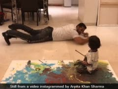Salman Khan's Paint Date With Nephew Ahil Is Winning The Internet