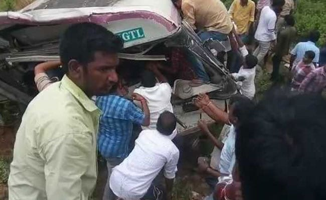 At Least 15 Killed, 20 Injured As Bus Falls Into Valley In Telangana