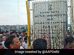 Delhi Minister Satyendar Jain Inaugurates Jagatpur Flyover