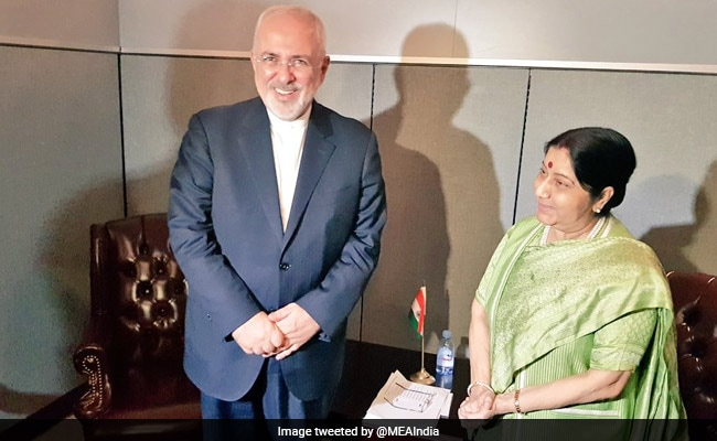 Sushma Swaraj Meets Her Iranian Counterpart, Discusses US Sanctions