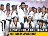 Video: Sonu Sood Honoured With Taekdwondo Doctorate