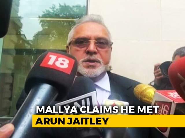 Video : Met Finance Minister Arun Jaitley Before Leaving India, Says Vijay Mallya