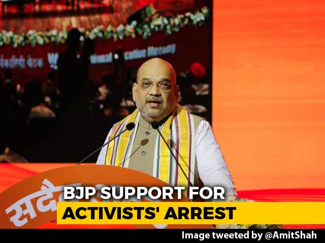 "Video : Congress Backing ""Urban Naxals"" Is Vote Bank Politics: Amit Shah"