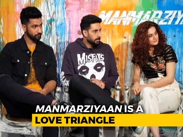 Video : Taapsee Pannu, Abhishek Bachchan & Vicky Kaushal On <i>Manmarziyaan</i>