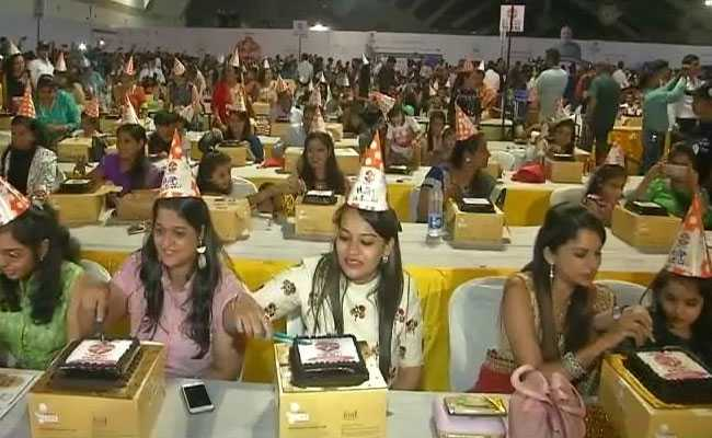 Born On PM Modi Birthday, Over 1200 Cut Cake Together To Set World Record