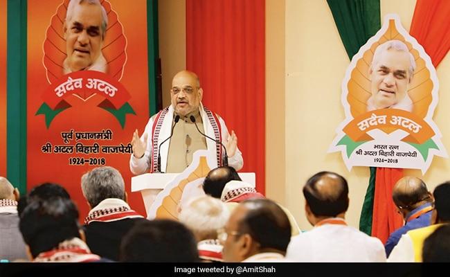 'मिशन 2019' पर महामंथन: प्रधानमंत्री ने दिया 'अजेय भारत-अटल भाजपा' का नारा