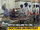 Video : Doctors Wear Helmets In Protest At Hyderabad's Osmania Hospital