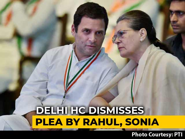 Video : Sonia Gandhi, Son Rahul's Request In Tax Case Rejected By High Court