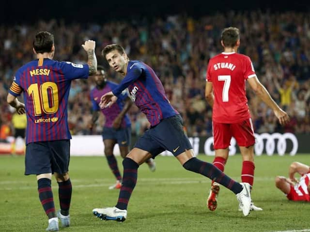 Gerard Pique Rescues Point For 10-Man Barcelona Against Girona