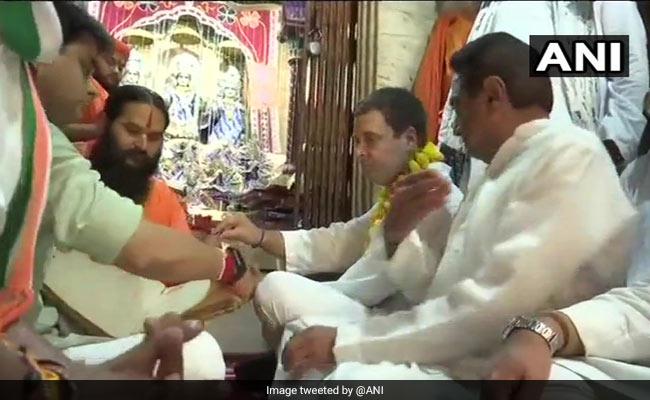 Rahul Gandhi, In Madhya Pradesh, Visits Famous Ram Temple In Chitrakoot