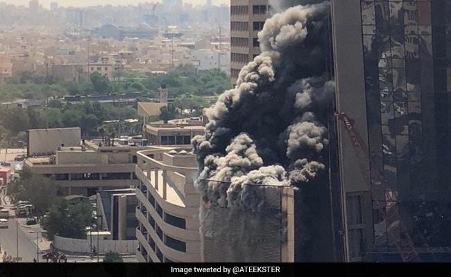 300 Metre Tall Kuwait Bank Headquarters Catch Fire Thick Smoke