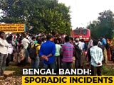 Video : BJP, Trinamool Men Clash In Many Areas. Buses Stoned, Trains Stopped