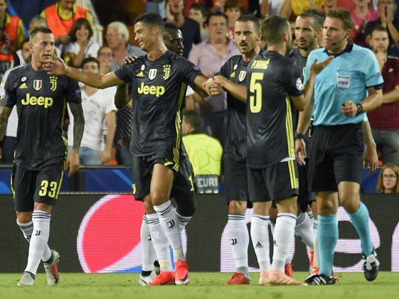 99a19165d Champions League  Cristiano Ronaldo Sent Off But 10-Man Juventus Ease Past  Valencia