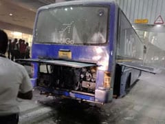 IndiGo Bus Catches Fire At Chennai Airport, Passengers Rescued