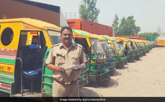 1,186 Errant Vehicles Seized In Ghaziabad In Four Hours In Special Drive