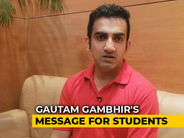Video : Gautam Gambhir Asks Students To Adopt A Tree For Green India