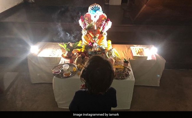 Shah Rukh Khan Shared A Photo On Instagram From The Actors Ganpati Celebration At Home