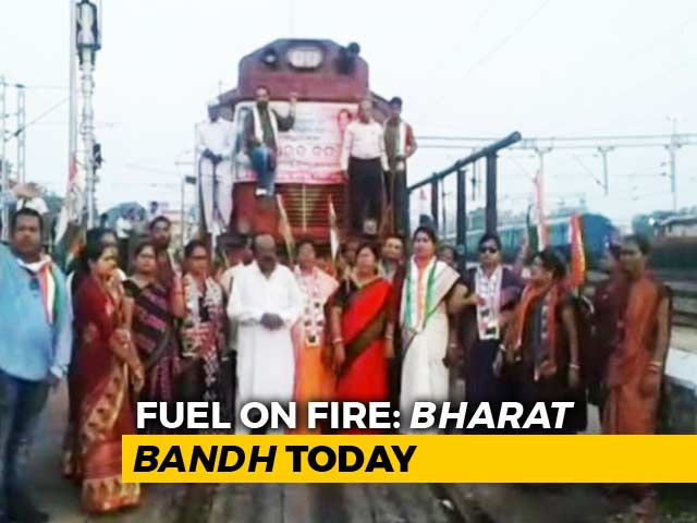 Video : Congress, Left Call For <i>Bharat Bandh</i> Against Rising Fuel Prices