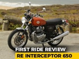 Royal Enfield Interceptor 650 First Ride Review