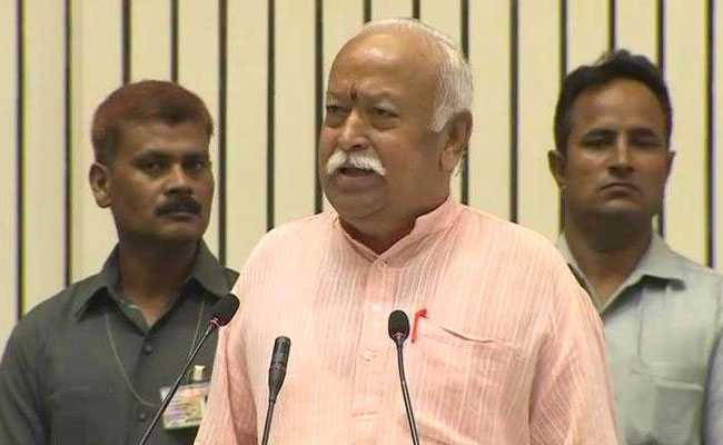RSS Work Incomparable, Chief Mohan Bhagwat Says At Mega Event