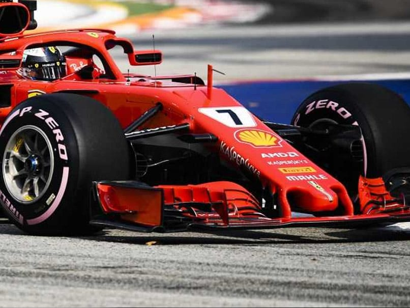 Kimi Raikkonen Edges Lewis Hamilton After Sebastian Vettel Hits Wall In Singapore