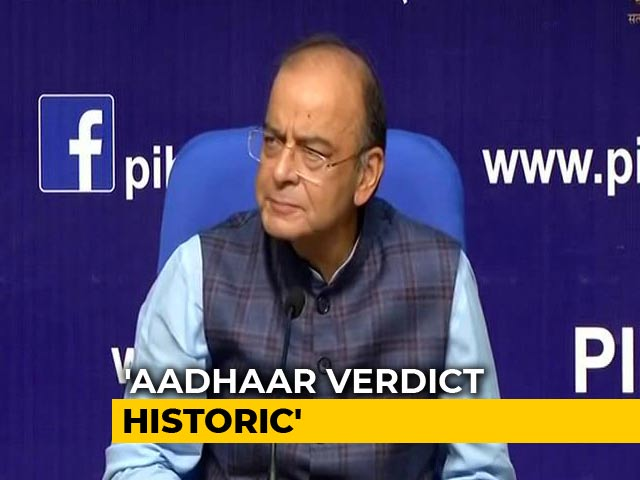 Video : Aadhaar Helped Centre Save Rs. 90,000 Crore Annually, Says Arun Jaitley