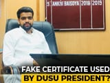 Video : Delhi University's New Student Body Chief's Marksheet Fake, Says College