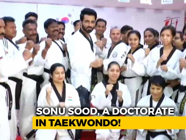 Sonu Sood Honoured With Taekdwondo Doctorate