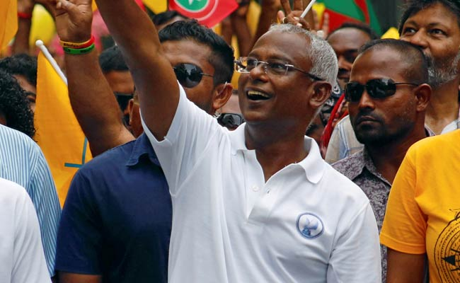 Image result for pics of Maldivan president solih