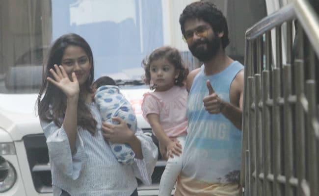 Shahid Kapoor, Mira And Misha Take Baby Zain Home. See Pics