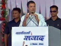 Rahul Gandhi Attacks Centre On Demonetisation In Madhya Pradesh Roadshow