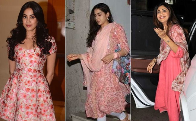 The Day Shilpa Shetty, Janhvi Kapoor And Sara Ali Khan Picked Pink