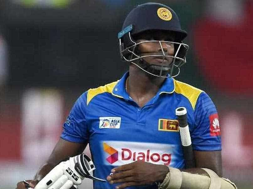 I'm A 'Scapegoat' Says Sacked Sri Lanka Captain Angelo Mathews